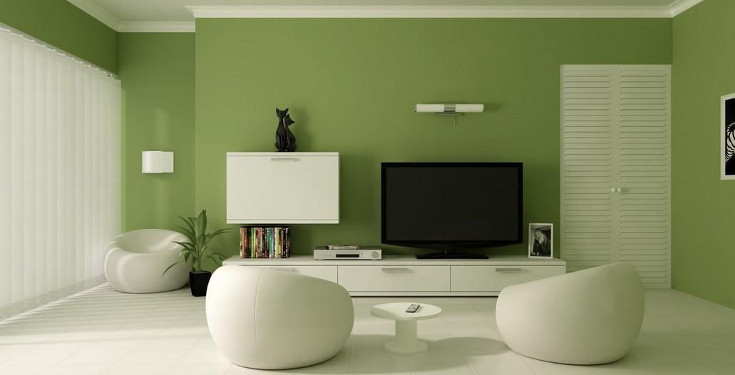 小户型客厅电视墙田园设计2014效果图
