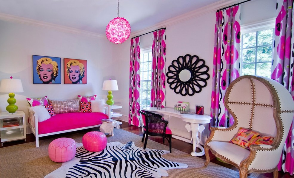 粉色系儿童房欧式家装效果图2014