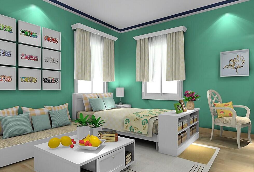 韩式田园风格卧室装修效果图